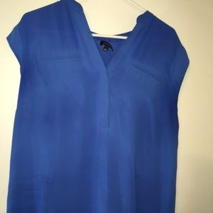 Royal blue shell blouse